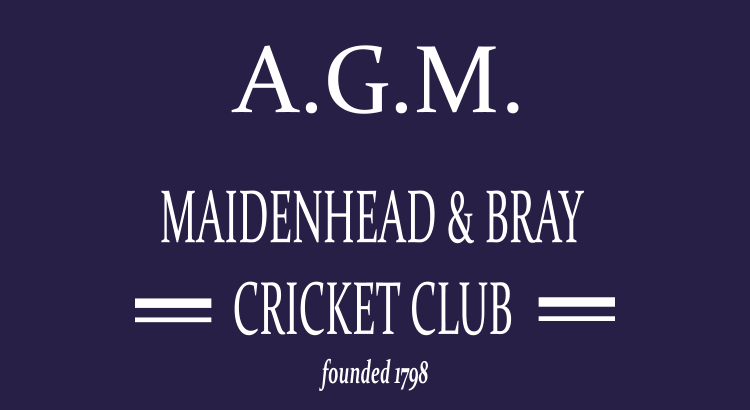 Maidenhead and Bray Cricket Club A.G.M 2016