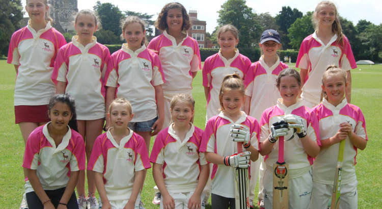 Fabulous cricket from the U12 Girls